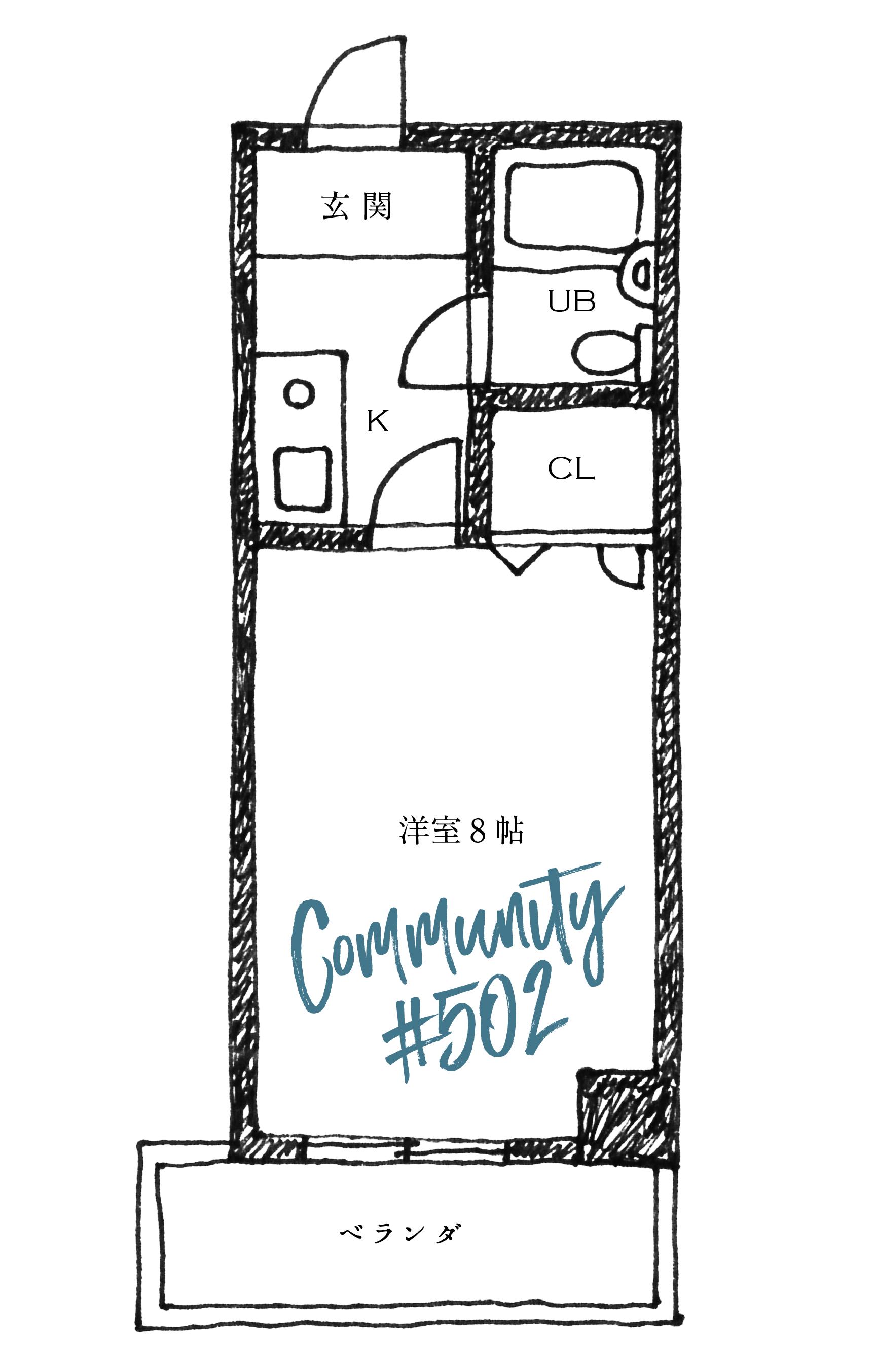 【成約済】続・シャビーシックな部屋 #502