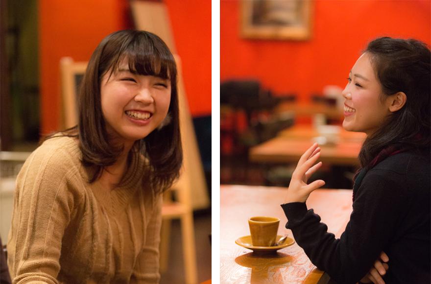 住人のヒロコちゃん(左)とアカネちゃん(右)