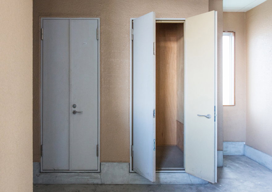 トランクルームは、住人1人につき1室ずつ。いつでも自由に荷物を出し入れできます。